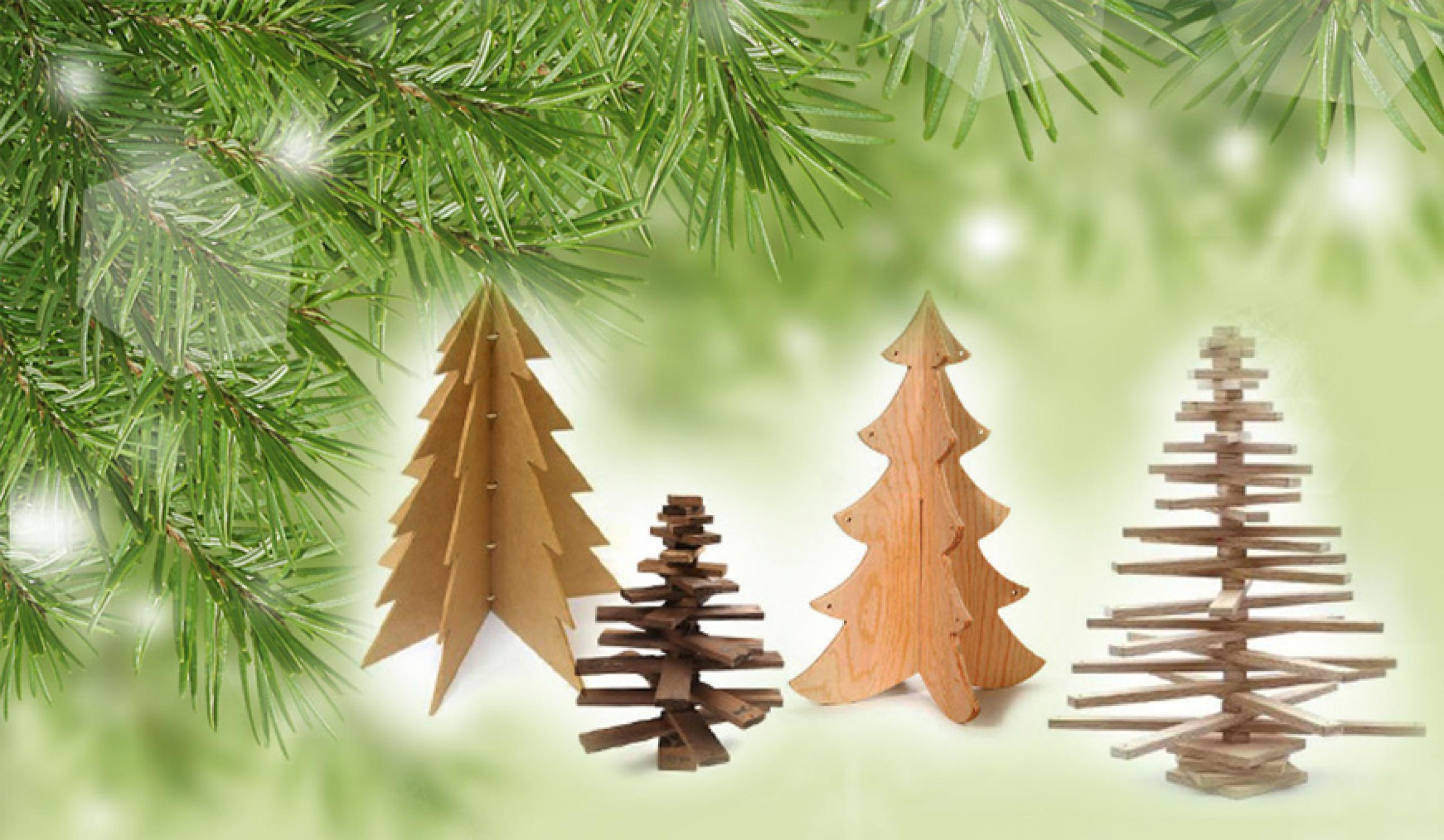Byg et juletræ af træ