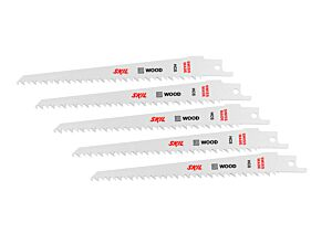SKIL Sæt med 5 HCS-savklinger til træ